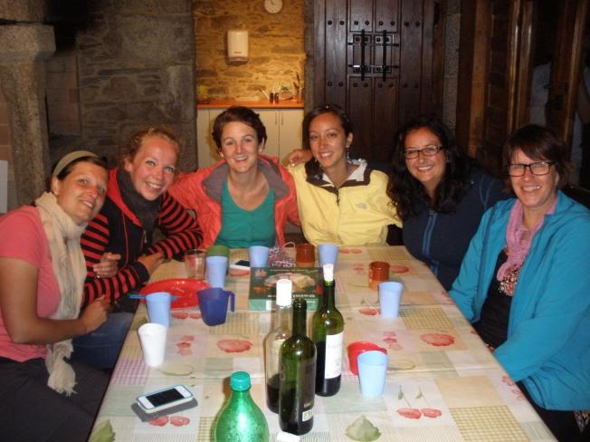 Last night dinner with the ladies.